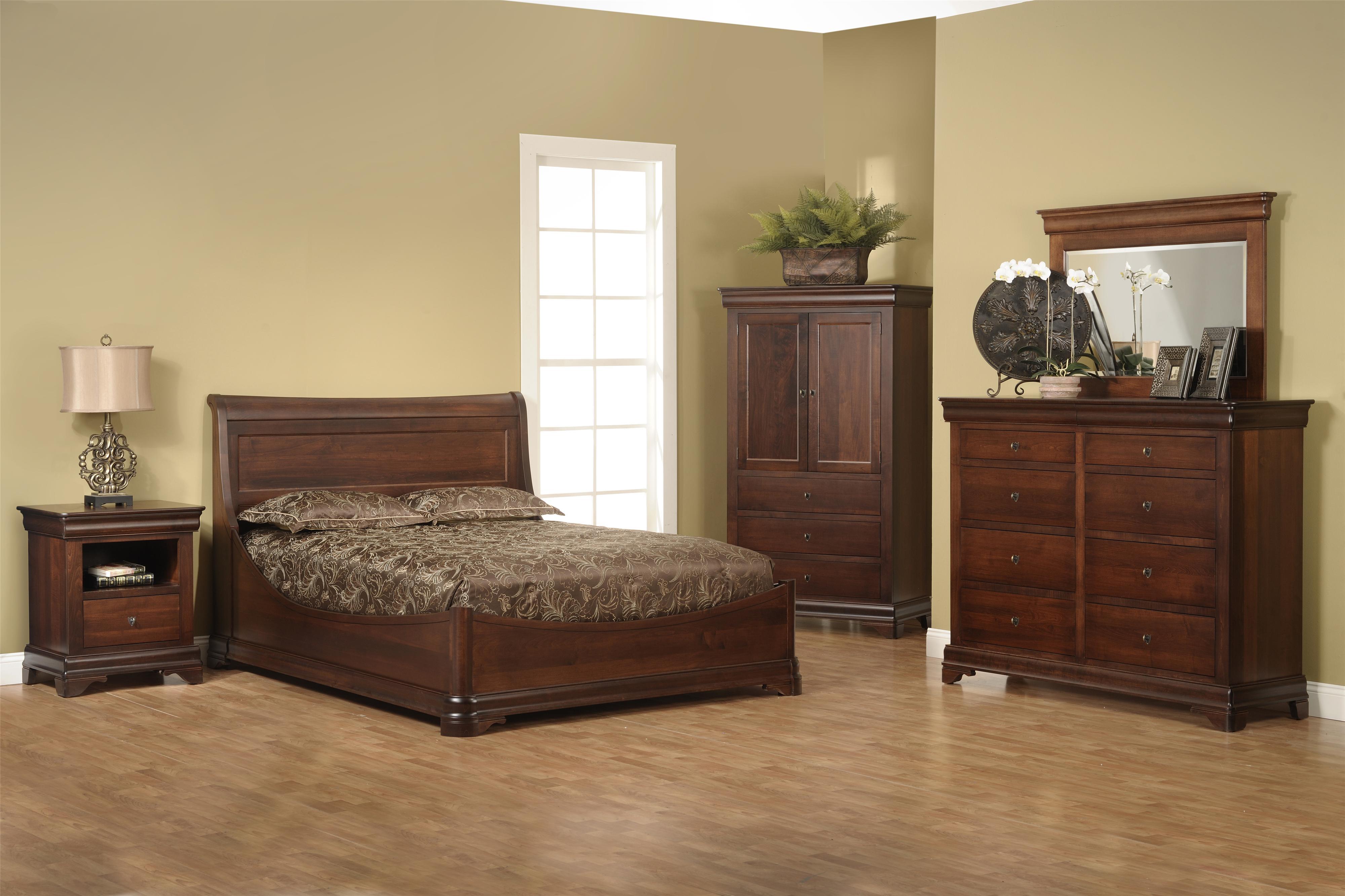 Versallies Queen Euro Bedroom Group by Millcraft at Saugerties Furniture Mart