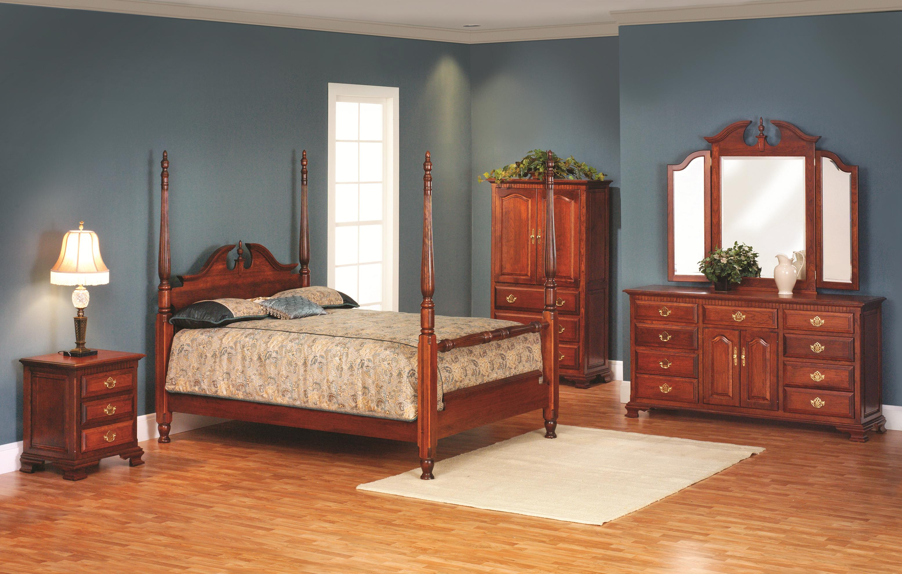 Victorias Tradition Queen Poster Bedroom Group by Millcraft at Saugerties Furniture Mart