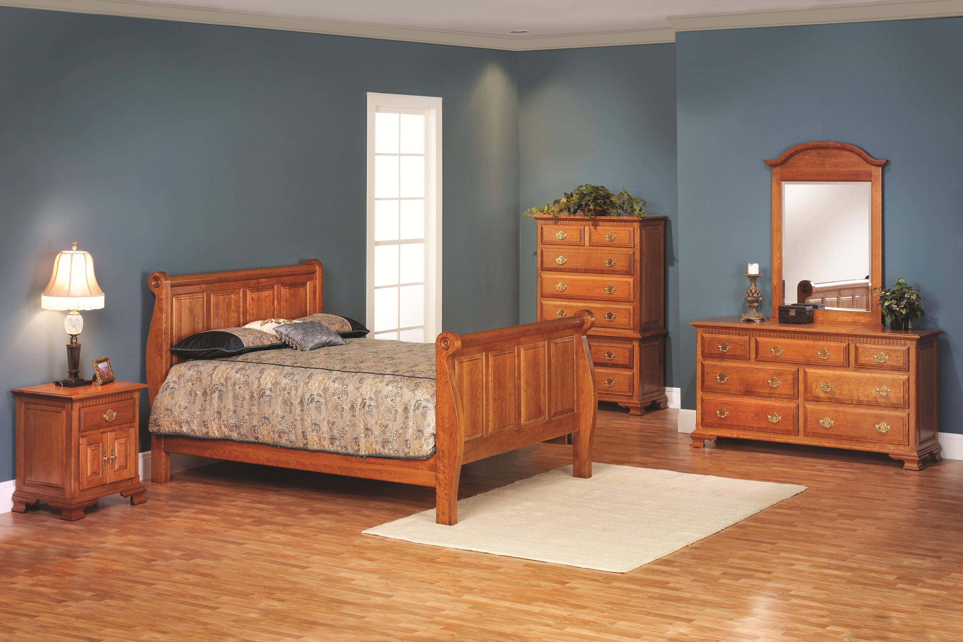 Victorias Tradition King Sleigh Bedroom Group by Millcraft at Saugerties Furniture Mart