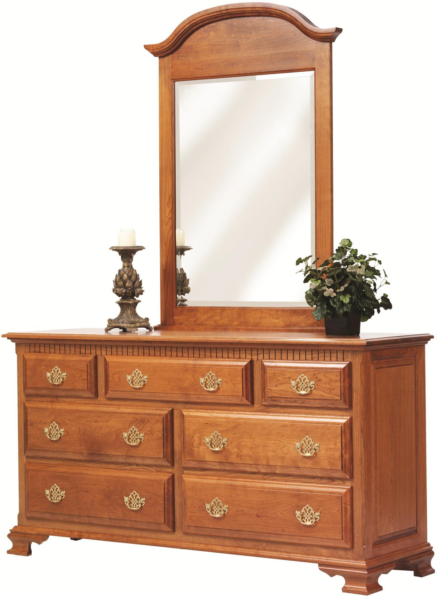 Victorias Tradition Dresser and Mirror Set by Millcraft at Saugerties Furniture Mart