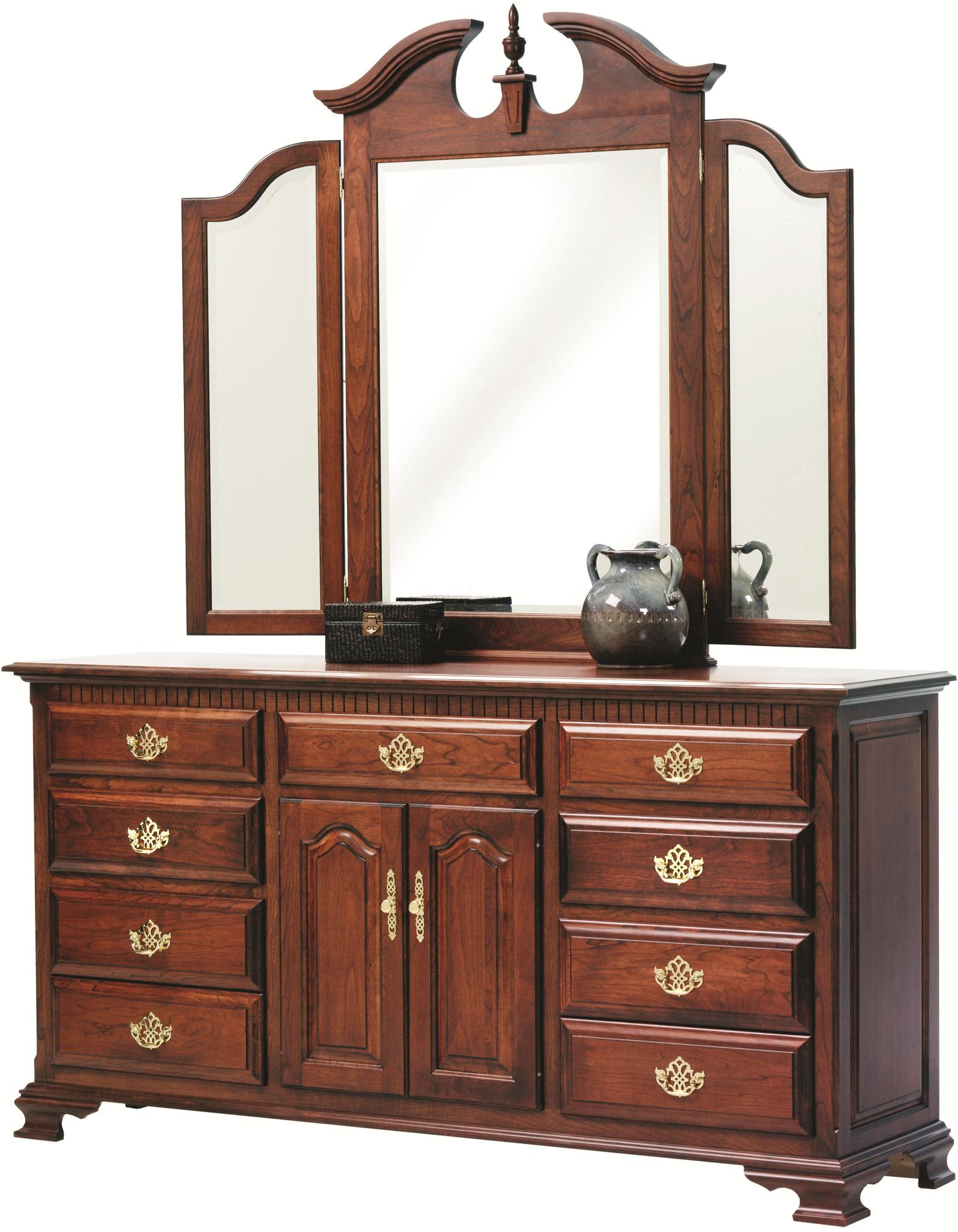 Victorias Tradition Tri Mirror and Dresser Set by Millcraft at Saugerties Furniture Mart