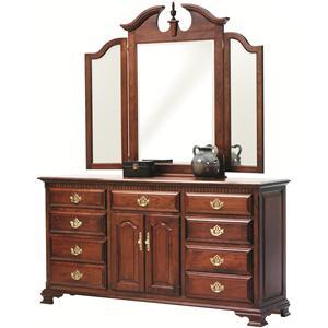 Tri Mirror and Dresser Set