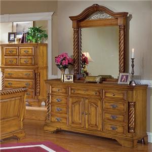 Millenia Winchester Door Dresser & Mirror
