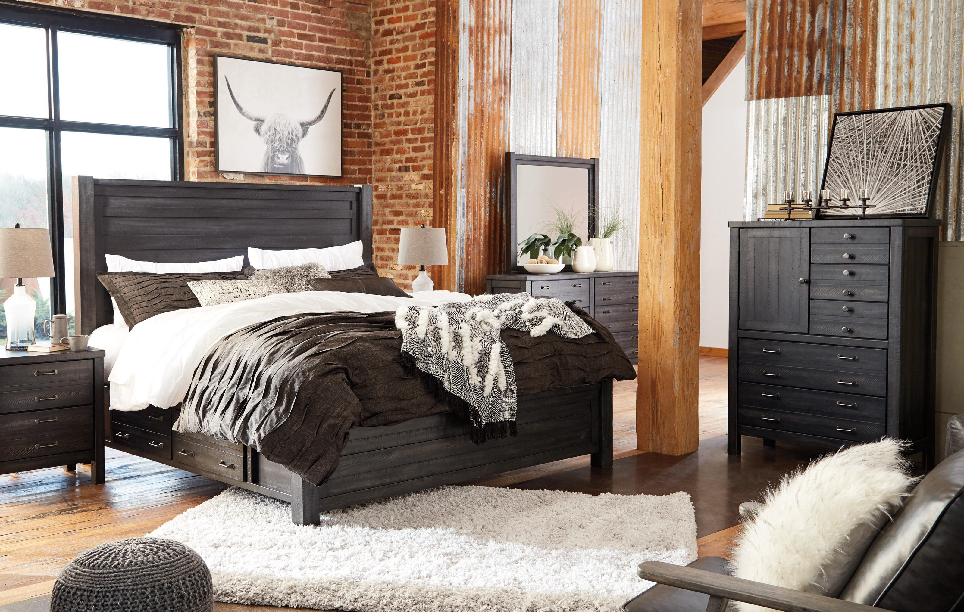 Queen Panel with Storage Bed Package