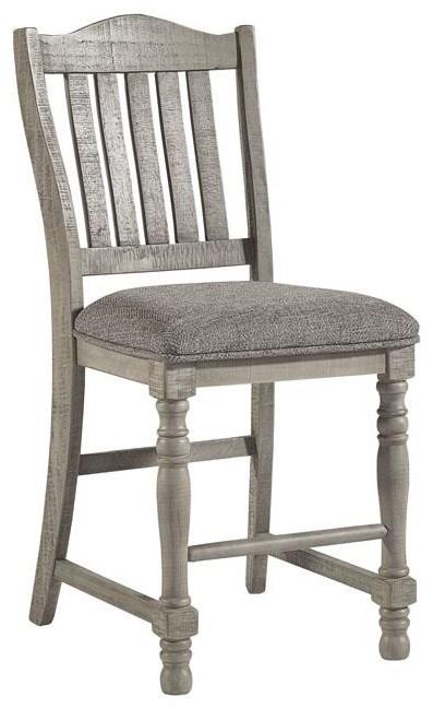 "Harrastone 24"" Upholstered Counter Height Bar Stool by Millennium at Sam Levitz Furniture"