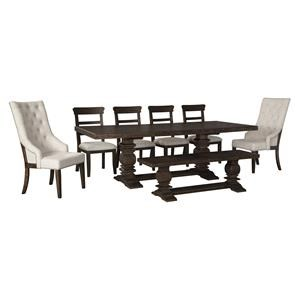7 PC Table, 2 Arm Chairs and 4 Side Chairs Set