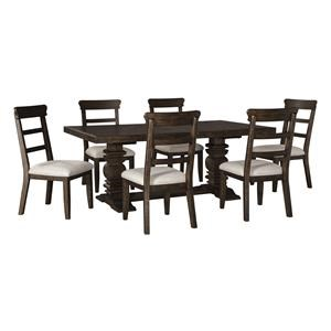 7 PC Table and 6 Side Chairs Set