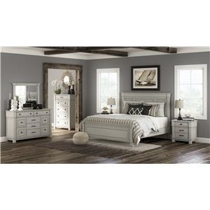 Queen Panel Bed, Dresser, Mirror, Nightstand and Chest