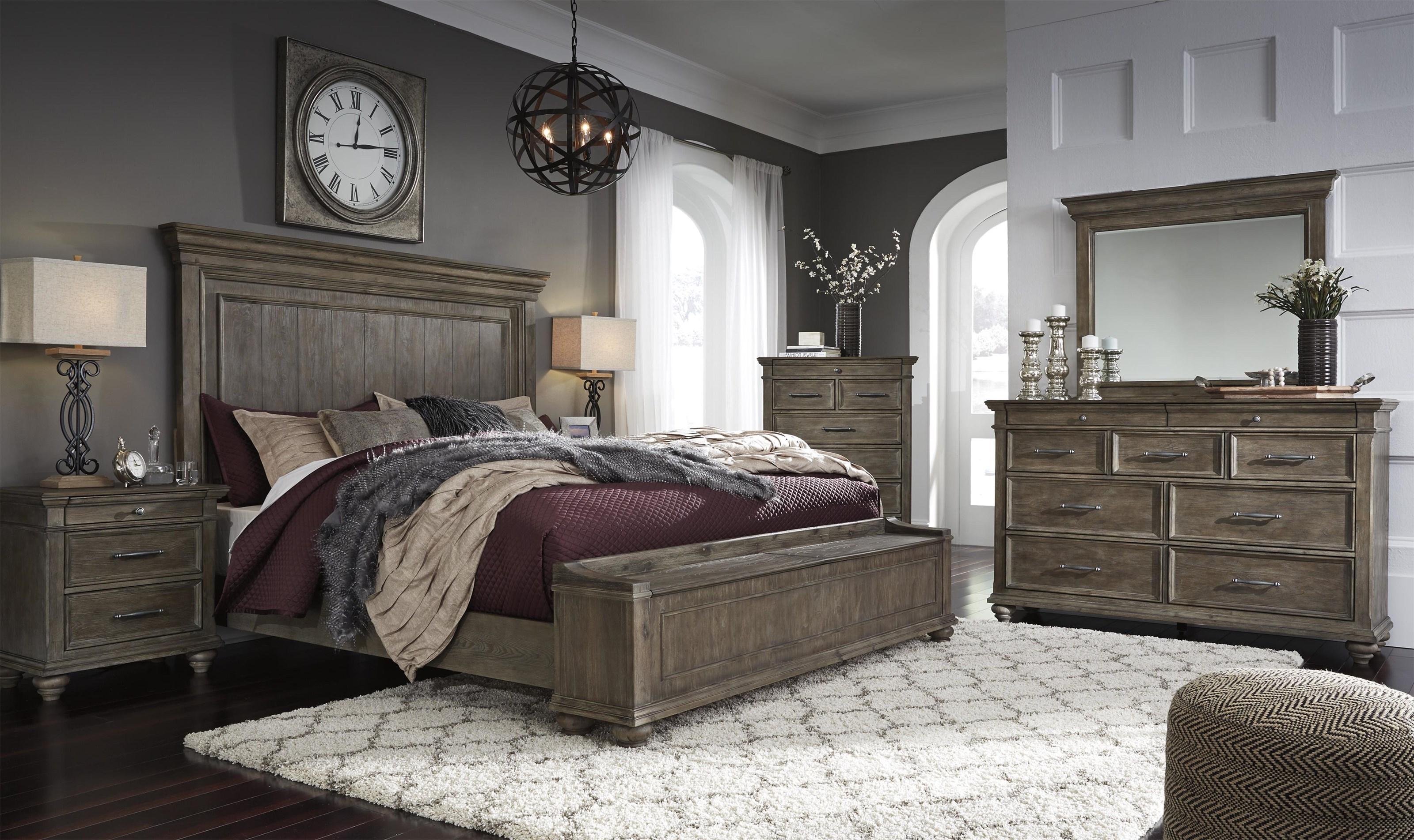 Johnelle 6 Piece Queen Panel Bedroom Set by Millennium at Sam Levitz Outlet