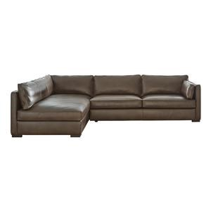 2 Piece Chocolate Sectional Sofa Chaise