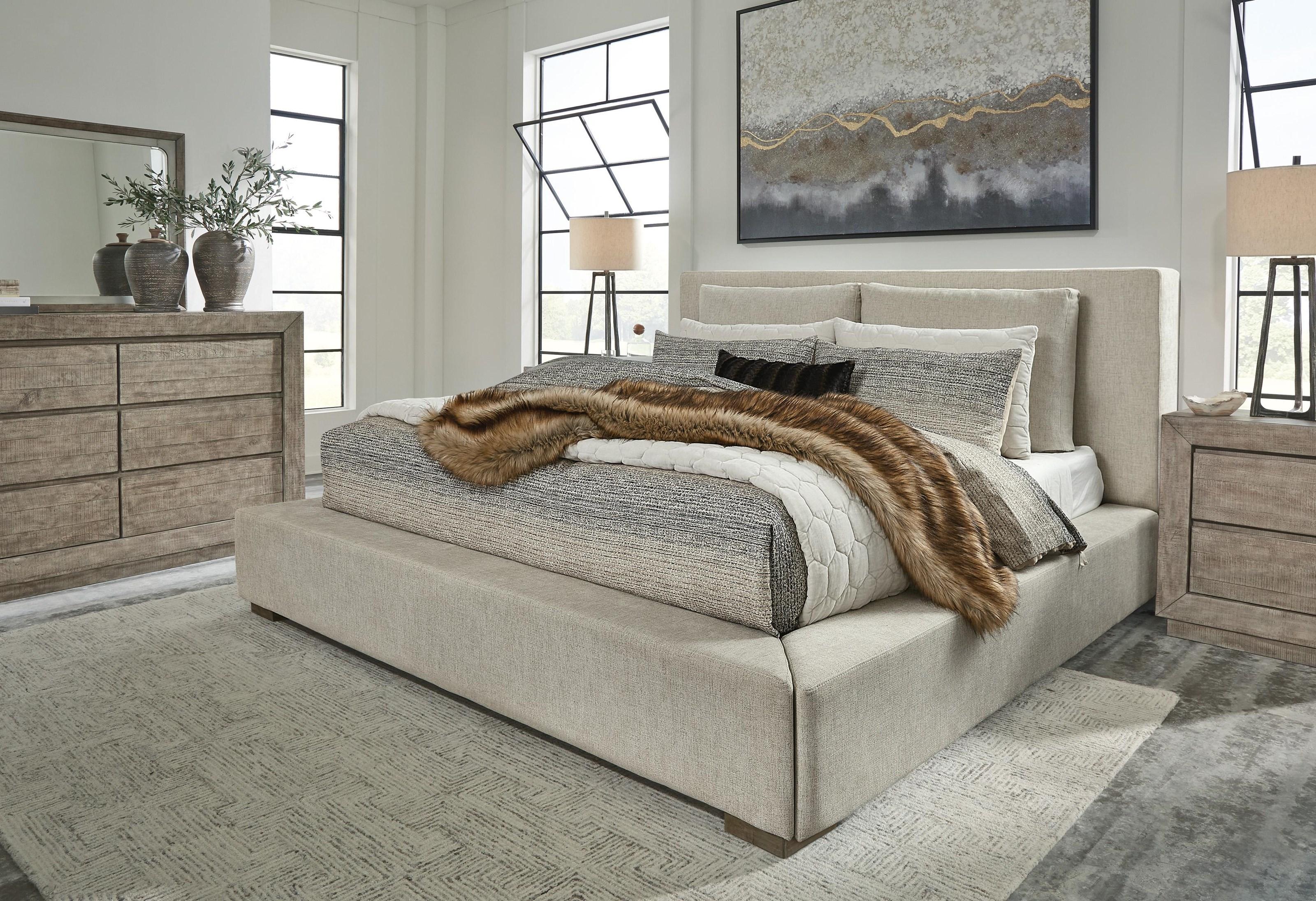 6 Piece Queen Upholstered Bedroom Set