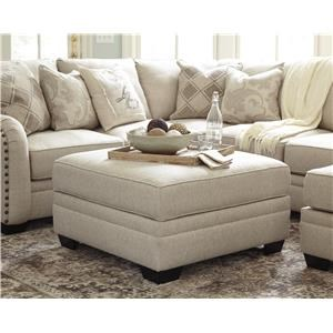 Bisque 4 PC Sectional and Ottoman Set