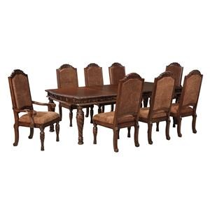 9PC Table 2 Arm Chairs and 6 Side Chairs