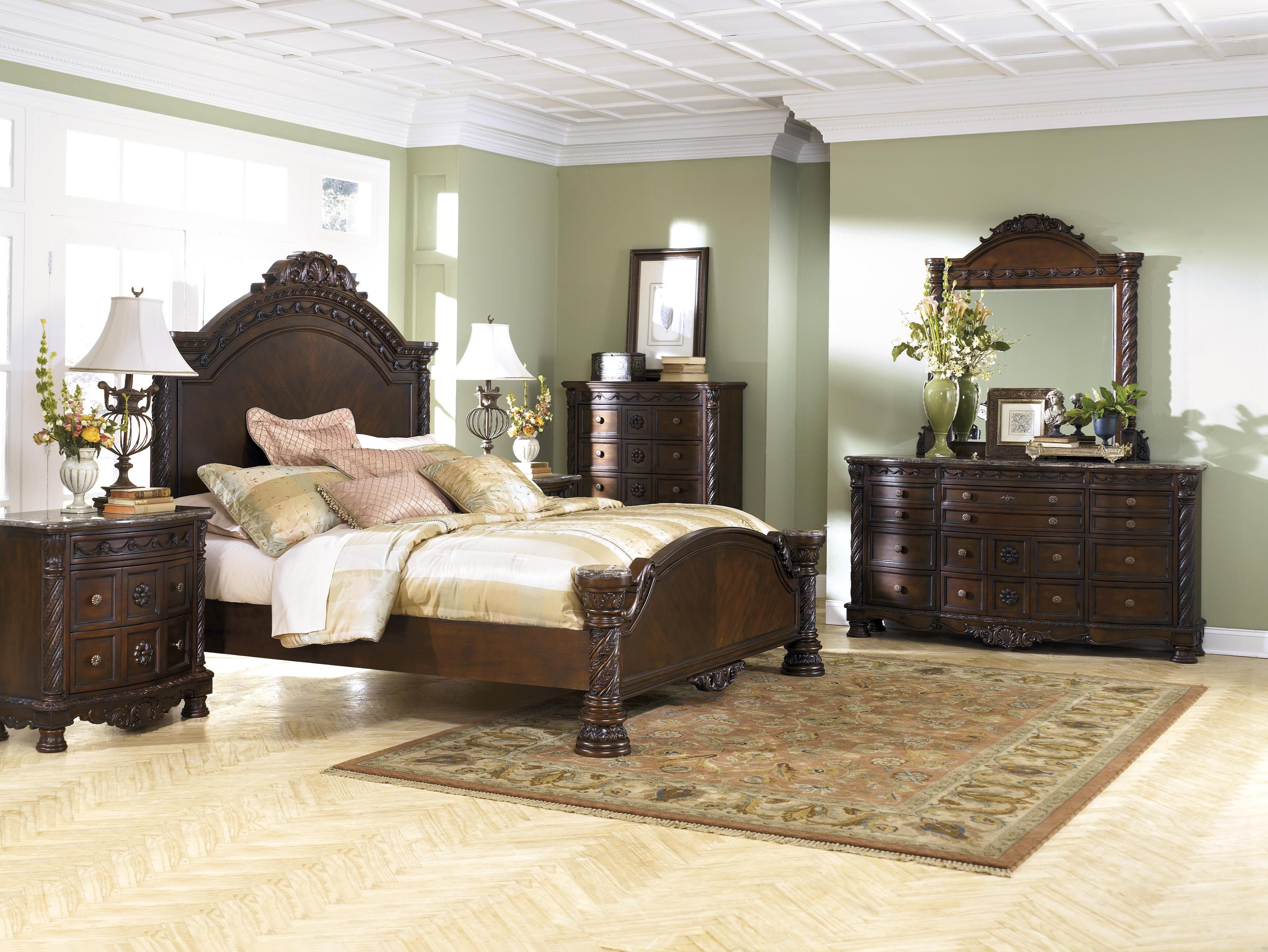 North Shore Queen Panel Bed Package by Millennium at Sam Levitz Furniture