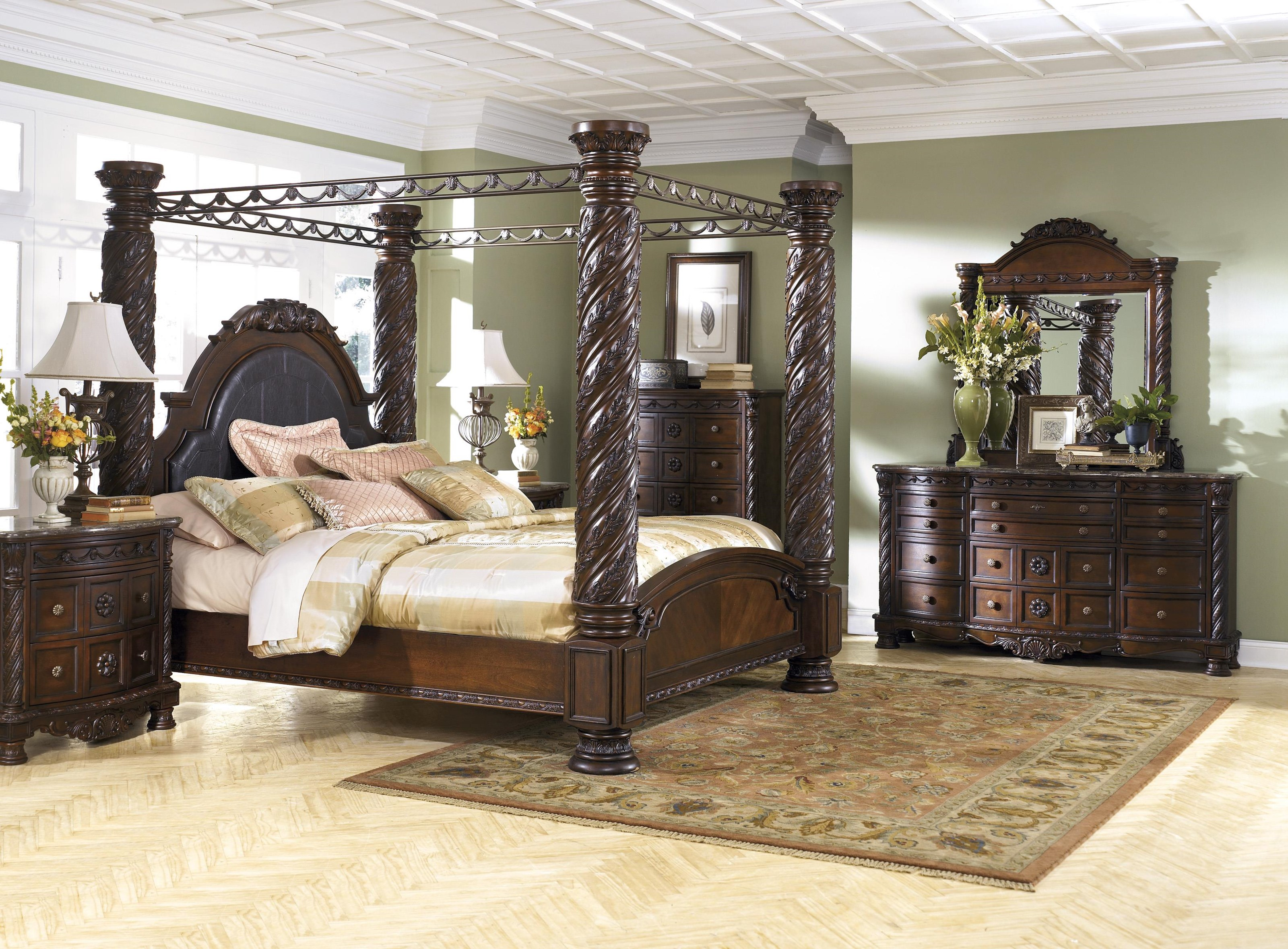 King Canopy Bed Package
