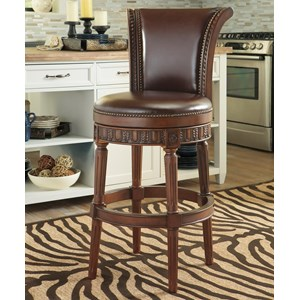 Millennium North Shore Tall Upholstered Swivel Barstool