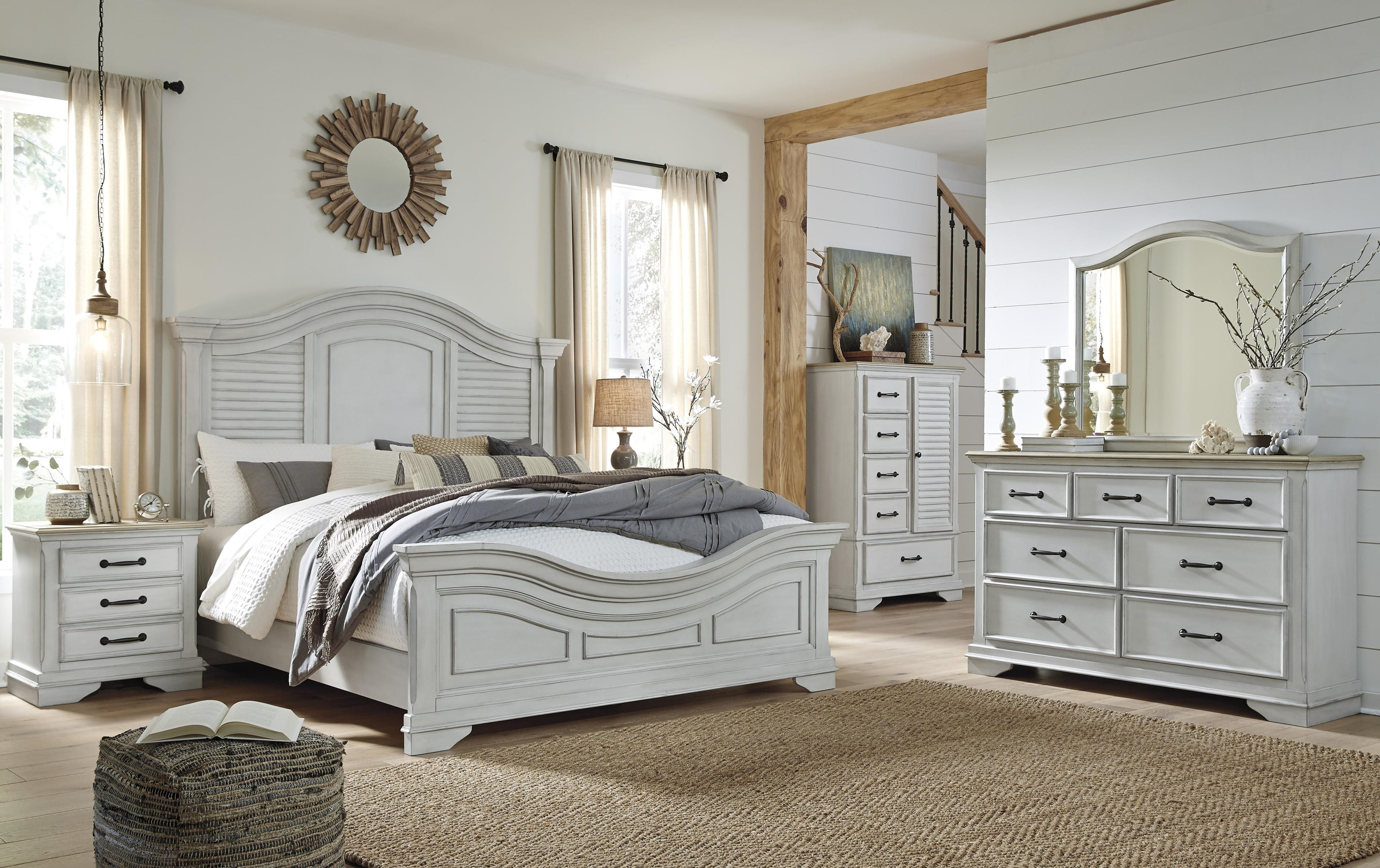 Teganville 6 Piece Queen Panel Bedroom Set by Millennium at Sam Levitz Furniture