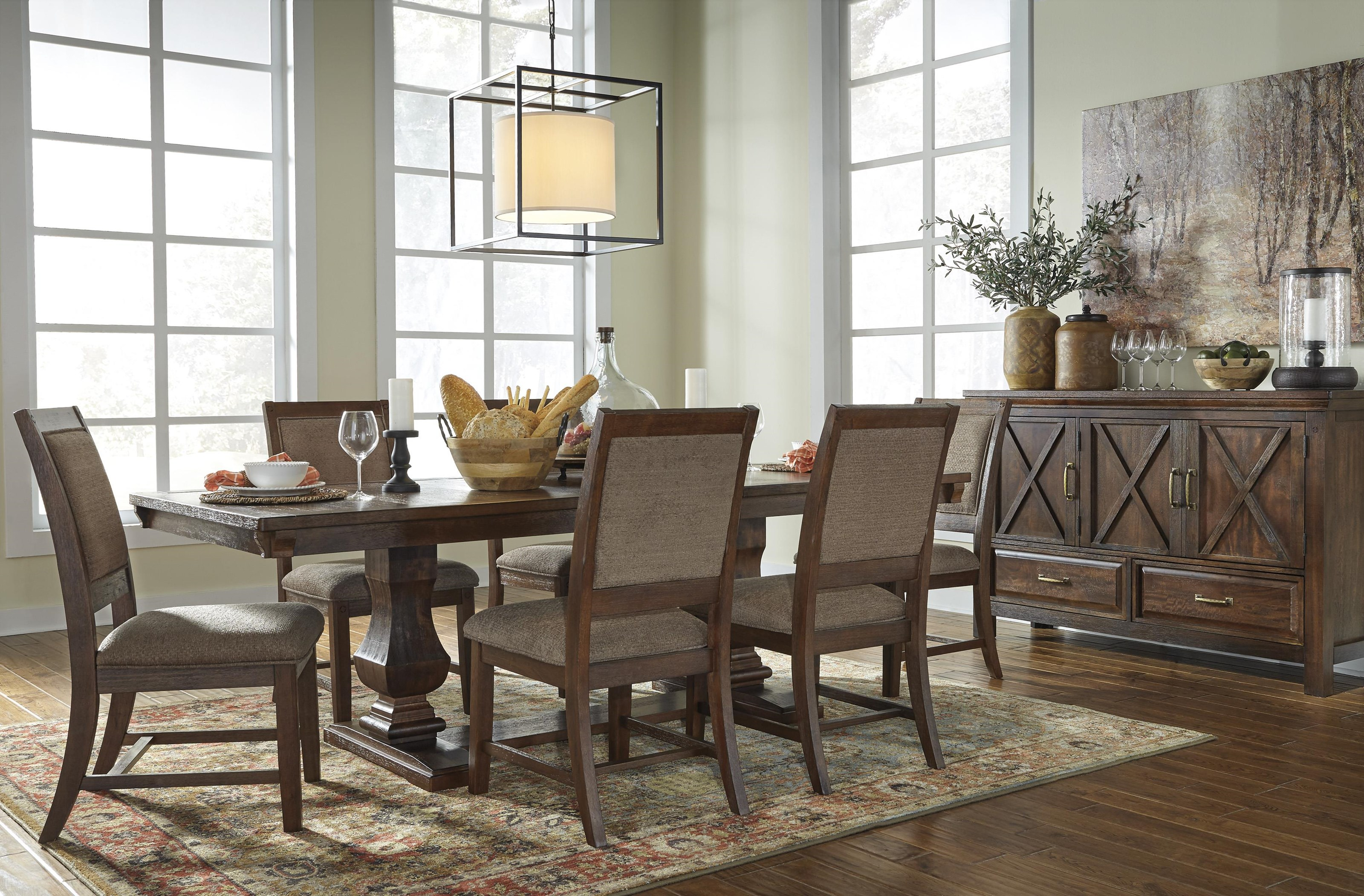 Windville 8 PC Dining Room Set by Millennium at Sam Levitz Furniture