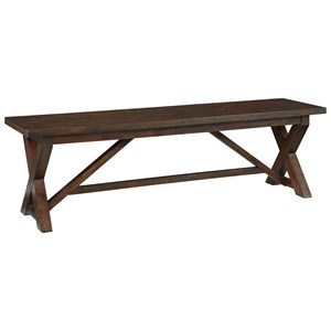 Large Dining Room Bench with Trestle Base
