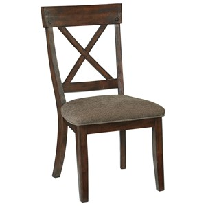 Dining Upholstered Side Chair with X-Back