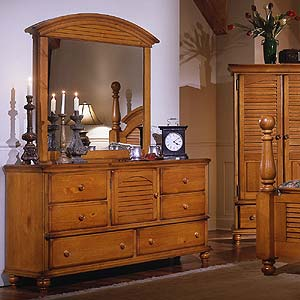 Brazil Furniture Group Irish Countryside Triple Dresser and Mirror