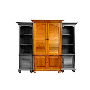 Brazil Furniture Group Irish Countryside Enterment Center Armoire