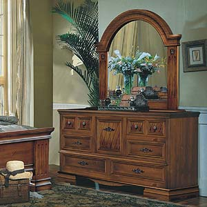 Brazil Furniture Group Rome Triple Dresser and Mirror