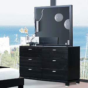 Brazil Furniture Group Daisy Double Dresser and Mirror