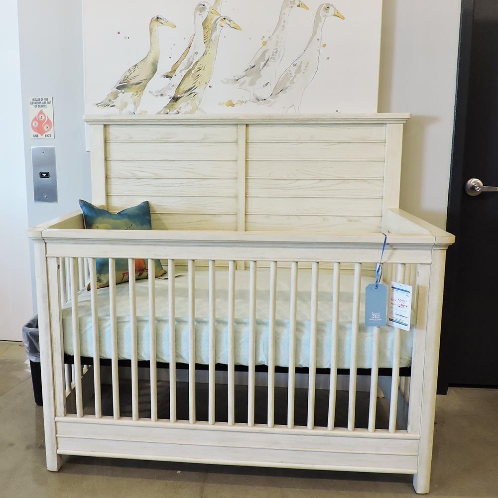 Clearance Vanilla Oak Crib at Belfort Furniture