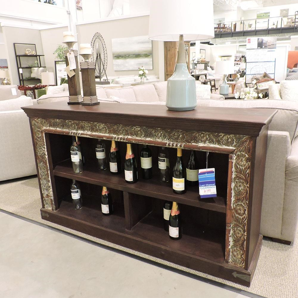 Clearance Low Console Bookcase at Belfort Furniture