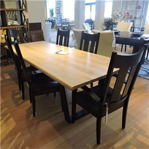 "96"" Raw Oak Dining Table"