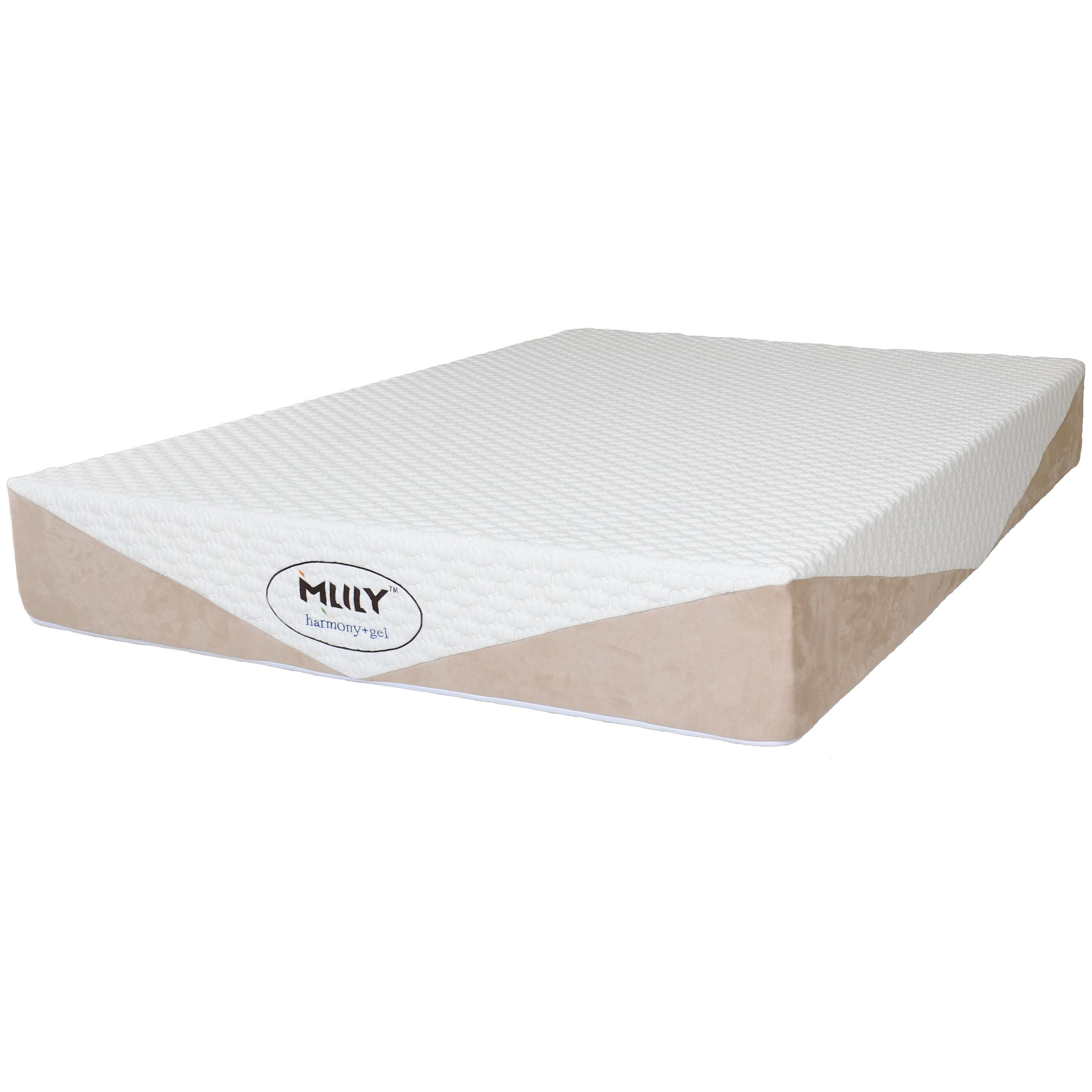 Harmony Queen Gel Memory Foam Mattress by MLILY at Nassau Furniture and Mattress