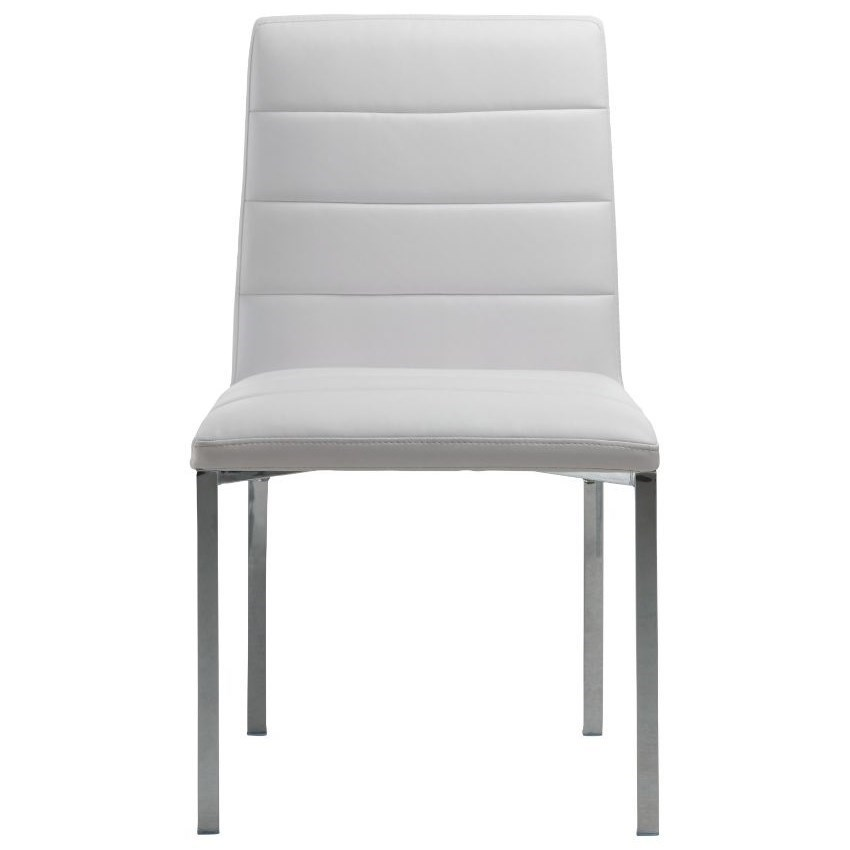 Metal Back Chair in White