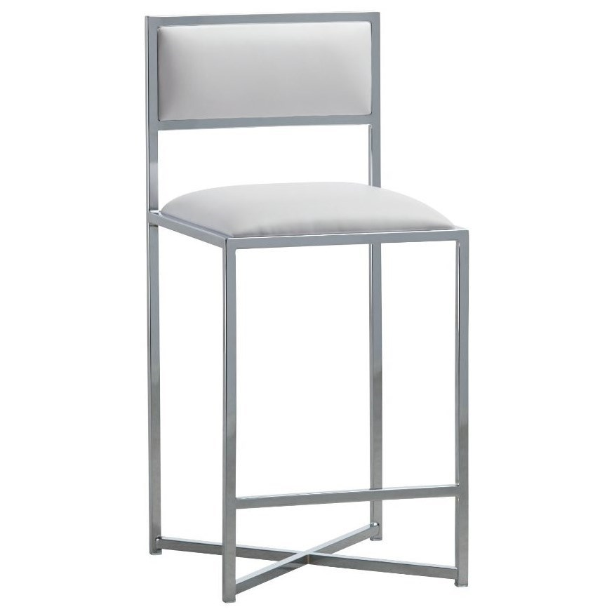 X-Base Counter Stool in White