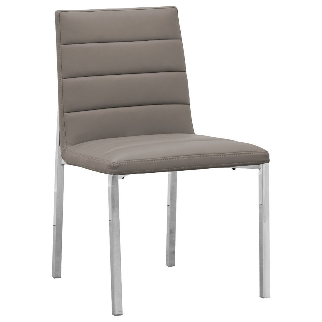 Metal Back Chair in Taupe