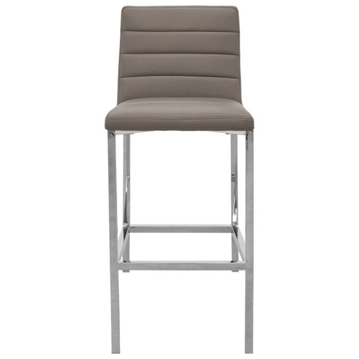 Metal Back Bar Stool in Taupe