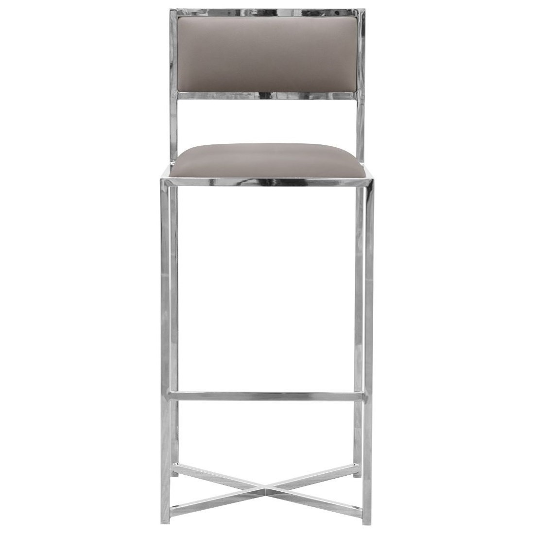 X-Base Bar Stool in Taupe