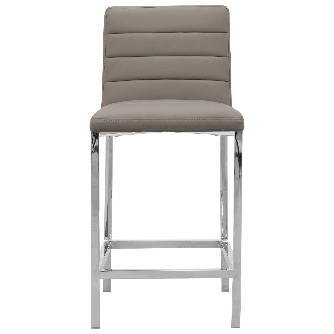 Metal Back Counter Stool in Taupe