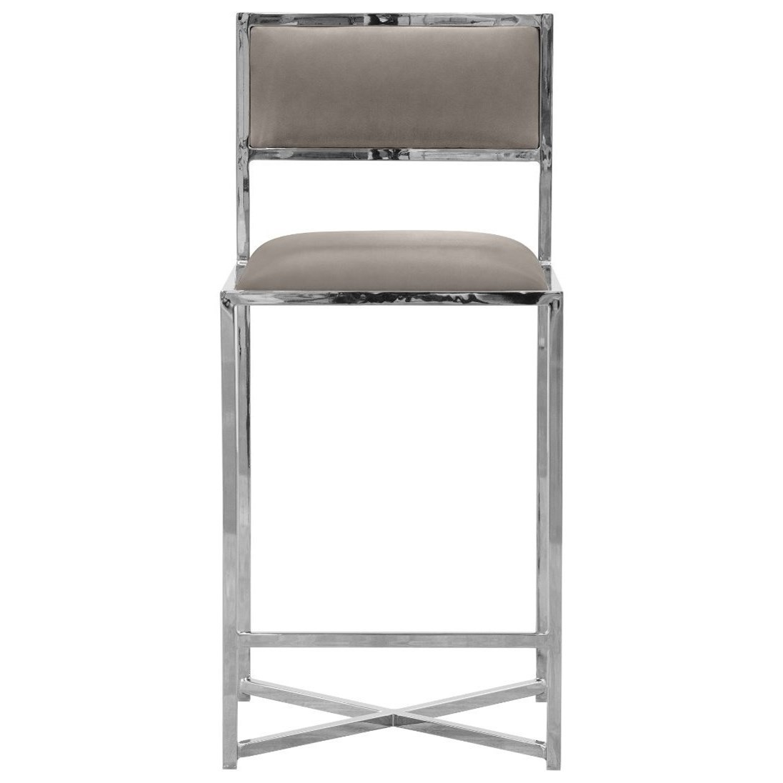 X-Base Counter Stool in Taupe