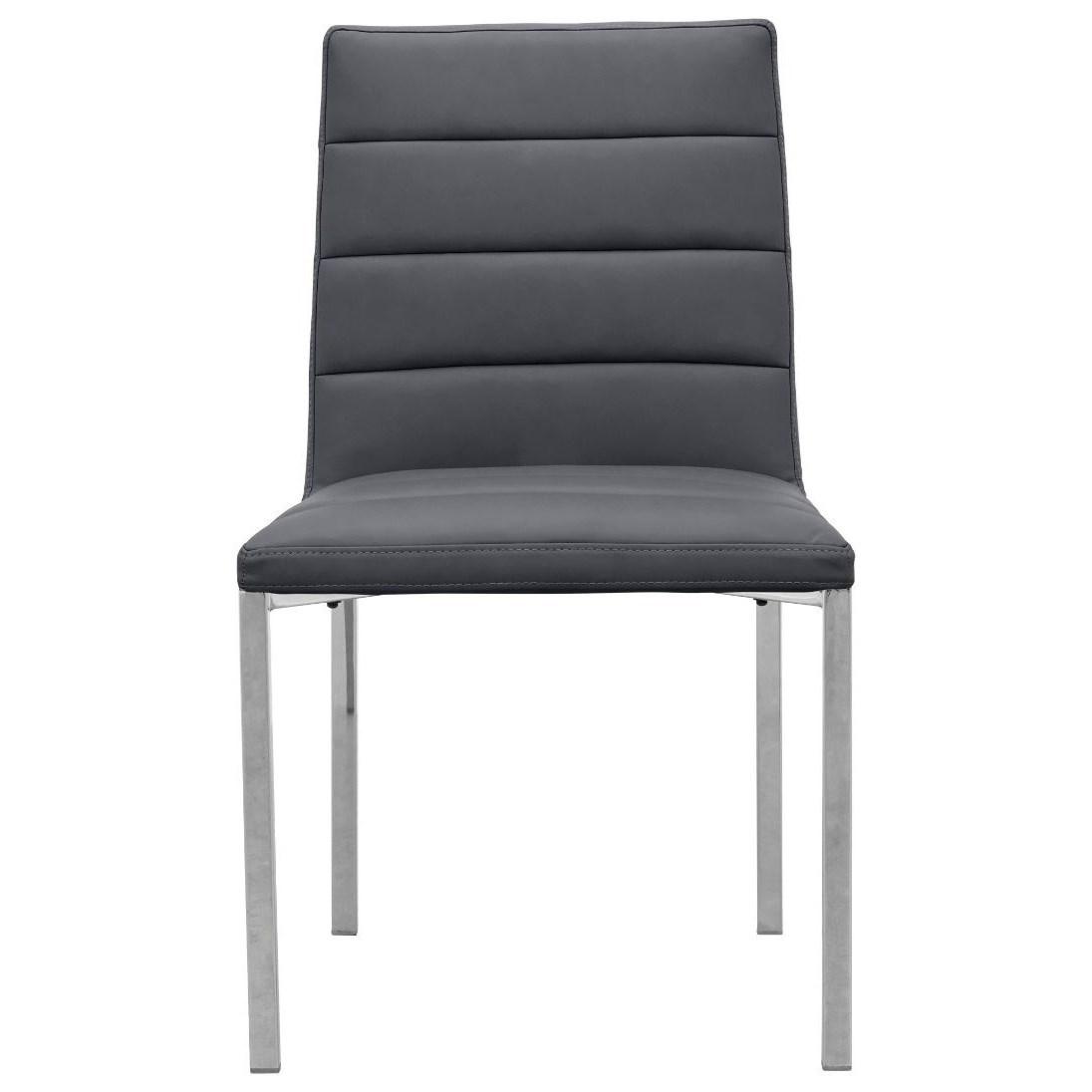 Metal Back Chair in Cobalt