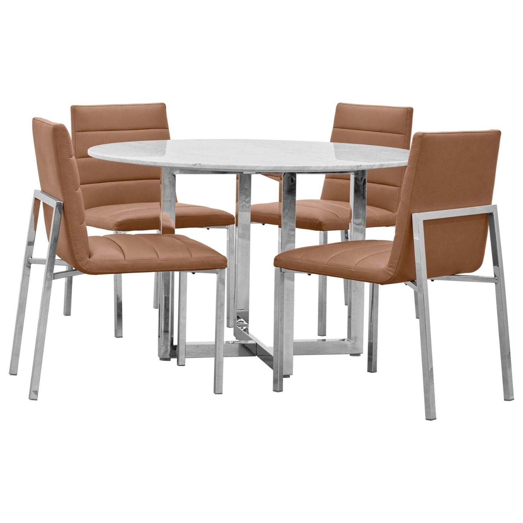 Amalfi 5-Piece Table Set by Modus International at A1 Furniture & Mattress