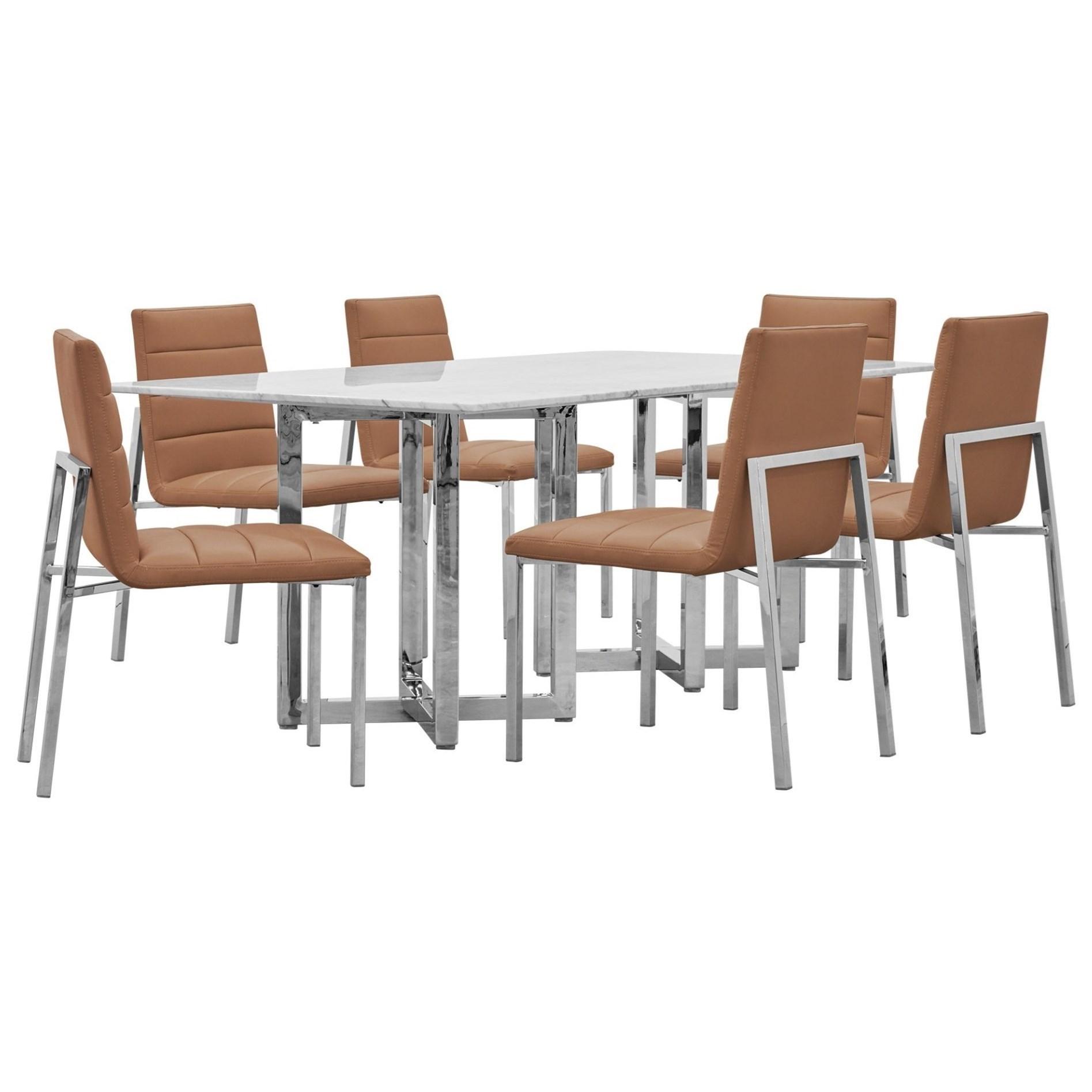 Amalfi 7-Piece Table Set by Modus International at A1 Furniture & Mattress