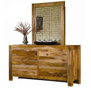 Modus International Atria 6 Drawer Dresser and Mirror Set
