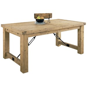 Rustic Solid Wood Dining Table with Leaves