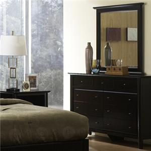 Modus International City II Nine Drawer Dresser & Mirror