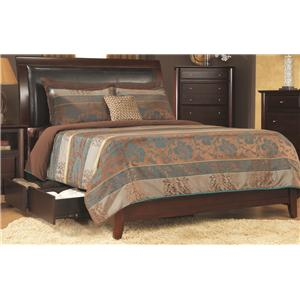 Modus International City II Queen Sleigh Storage Bed