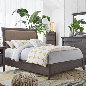 Full Leatherette Low Profile Sleigh Bed
