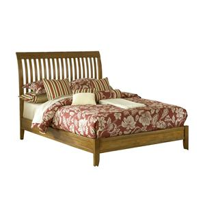 Modus International City II King Low Profile Rake Sleigh Bed