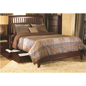 Modus International City II Queen Rake Sleigh Storage Bed