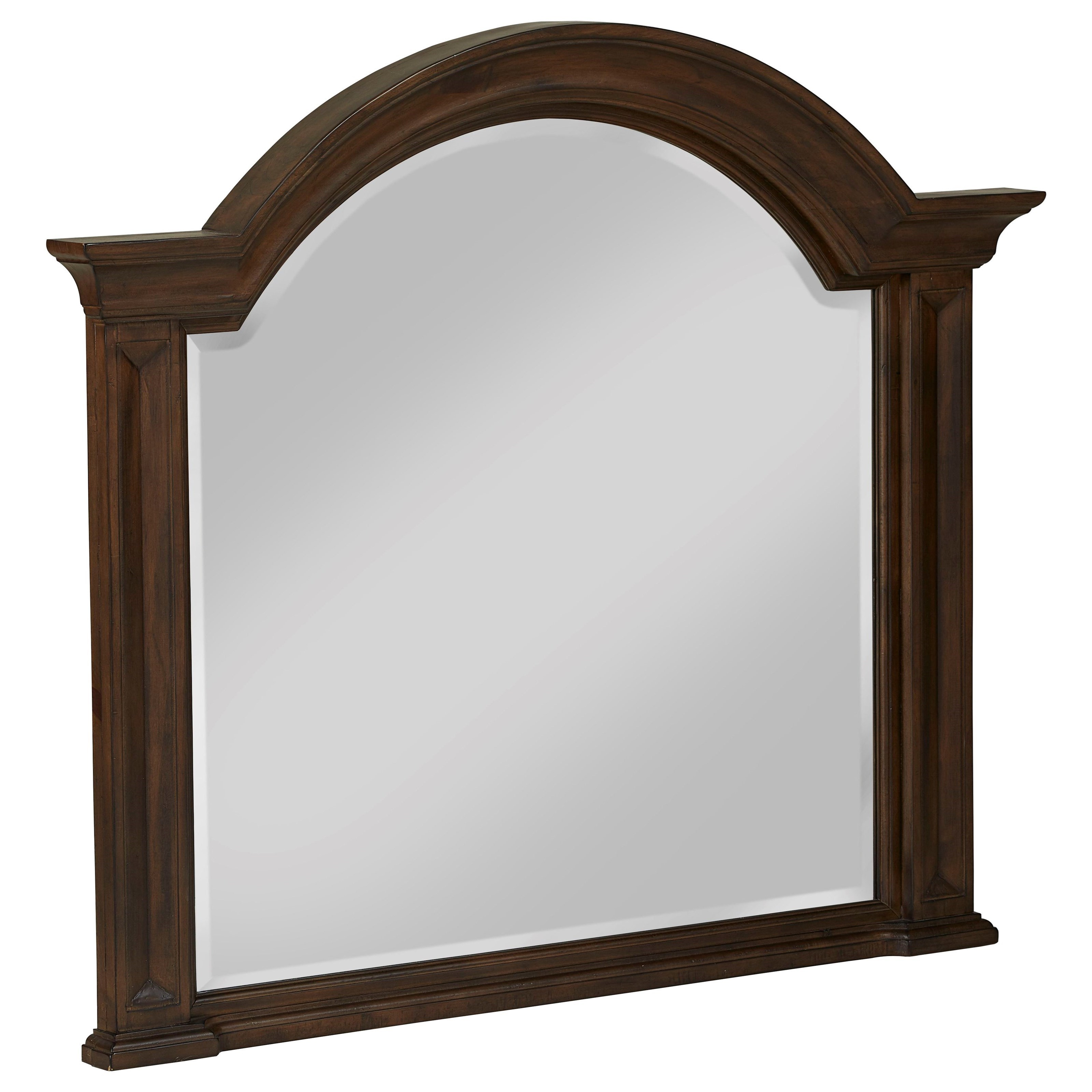 Solid Wood Beveled Glass Mirror